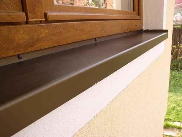 gezogene aluminiumfensterb nke mit der 40 mm nase innen. Black Bedroom Furniture Sets. Home Design Ideas