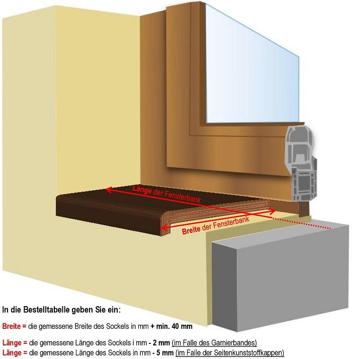 Innenfensterbänke HELOLIT (FENORM)   Innen- und Außen-Fensterbänke